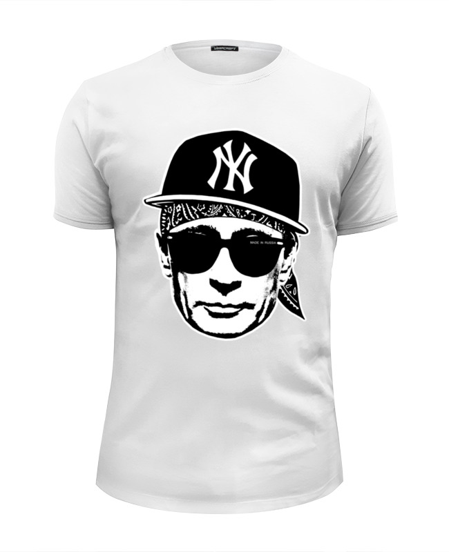 Футболка Wearcraft Premium Slim Fit Printio Putin hipster футболка wearcraft premium slim fit printio putin
