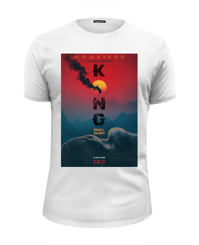 Футболка Wearcraft Premium Slim Fit Printio Конг: остров черепа / kong: skull island футболка wearcraft premium slim fit printio stone island
