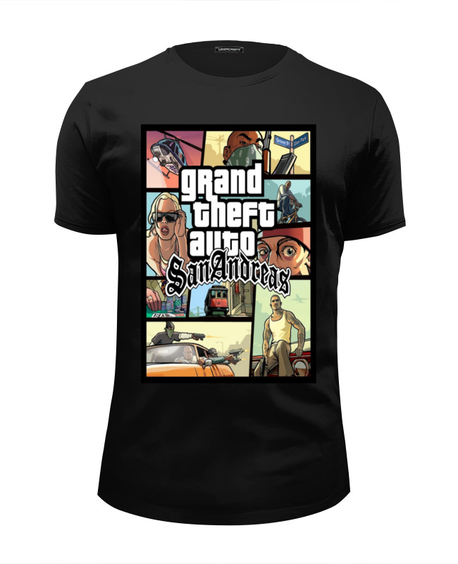 Футболка Wearcraft Premium Slim Fit Printio Grand theft auto san andreas