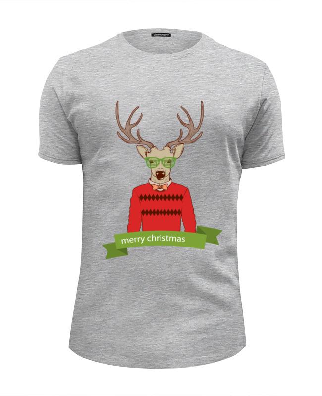 Футболка Wearcraft Premium Slim Fit Printio Christmas deer christmas decor deer printed cushion throw pillow cover