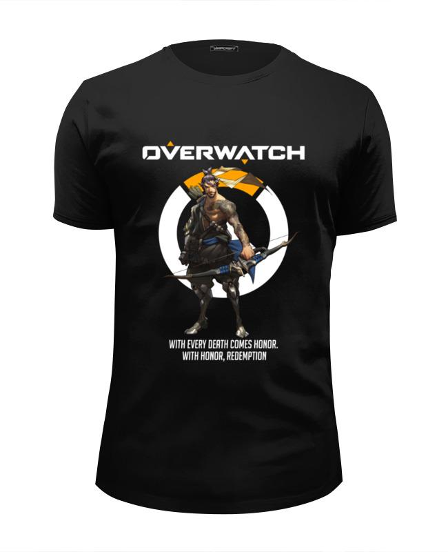 Футболка Wearcraft Premium Slim Fit Printio Overwatch. хандзо футболка классическая printio overwatch хандзо