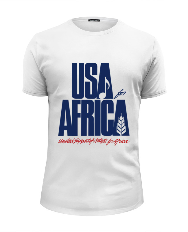 Футболка Wearcraft Premium Slim Fit Printio Usa for africa