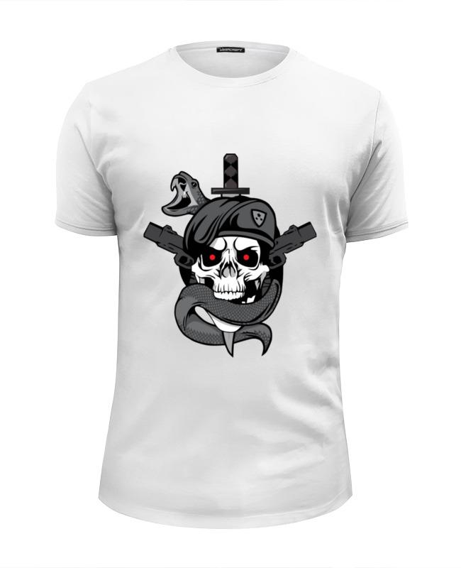 Футболка Wearcraft Premium Slim Fit Printio Череп (call of duty) футболка классическая printio call of duty