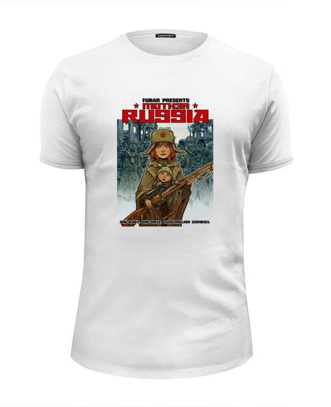 Футболка Wearcraft Premium Slim Fit Printio Зомби россия футболка wearcraft premium slim fit printio россия украина