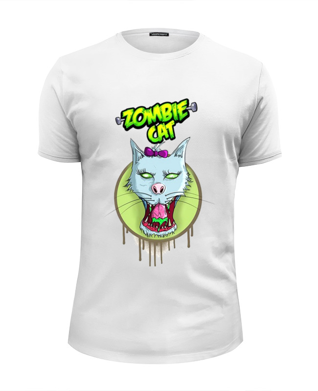 Printio Zombie cat футболка wearcraft premium slim fit printio zombie cat