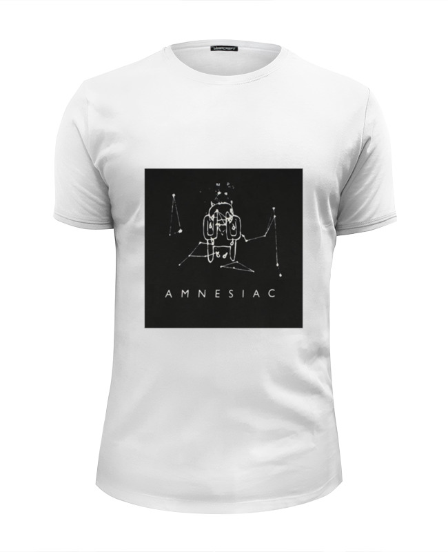 Футболка Wearcraft Premium Slim Fit Printio Radiohead amnesiac t-shirt plus size skew collar skull t shirt