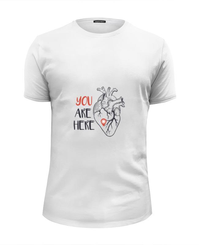 Футболка Wearcraft Premium Slim Fit Printio Heart ���������������� wearcraft premium slim fit printio ���������� ����������
