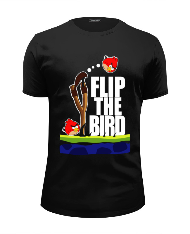 Футболка Wearcraft Premium Slim Fit Printio Flip the bird майка классическая printio flip the bird