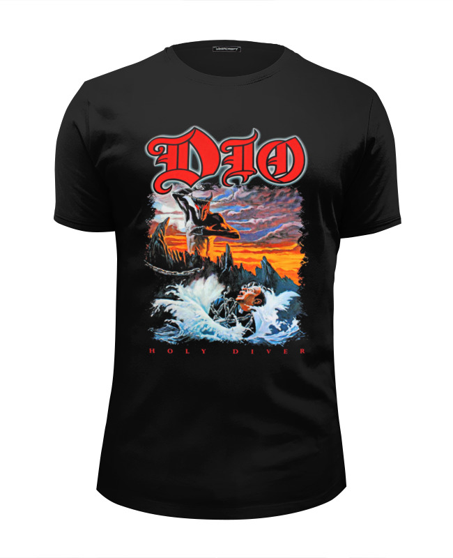 Футболка Wearcraft Premium Slim Fit Printio Ronnie james dio dio dio friends stand up shot for cancer picture disc