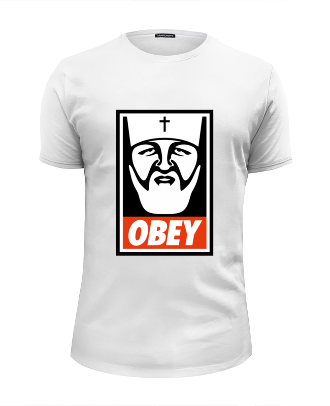 Футболка Wearcraft Premium Slim Fit Printio Kirill obey сумка printio kirill obey
