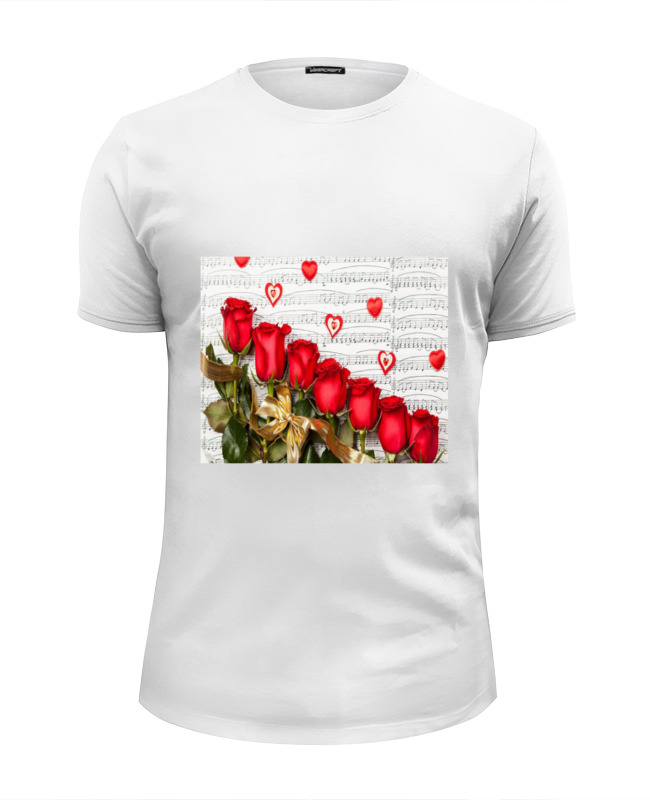 Футболка Wearcraft Premium Slim Fit Printio Цветы розы футболка wearcraft premium slim fit printio совушка