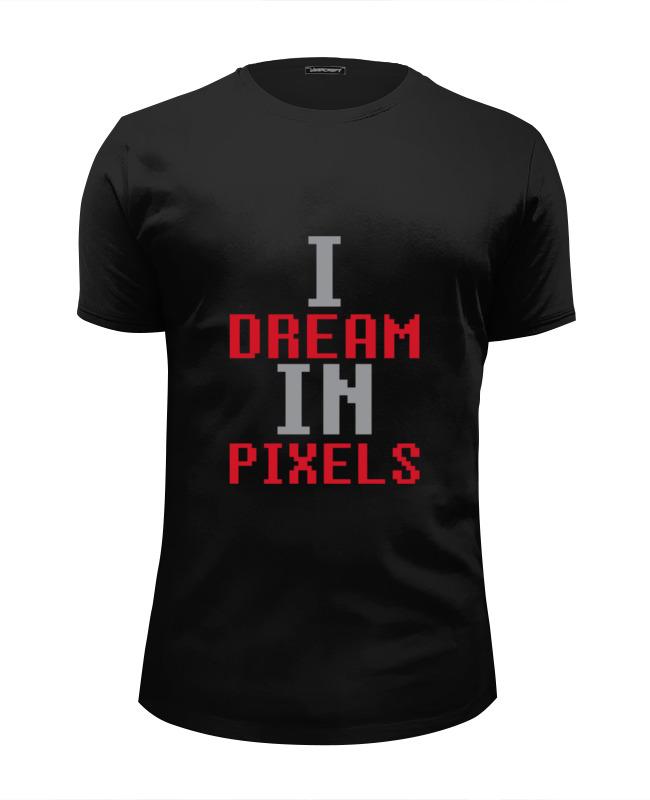 Футболка Wearcraft Premium Slim Fit Printio Мечтаю в пикселях