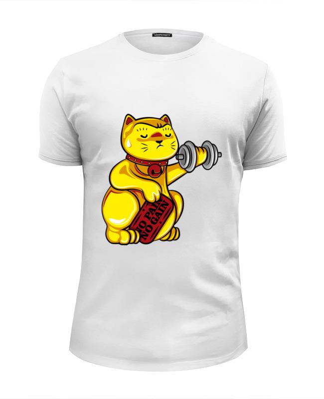 Футболка Wearcraft Premium Slim Fit Printio Манэки-нэко (кот счастья) россия скульптура кот гармонист