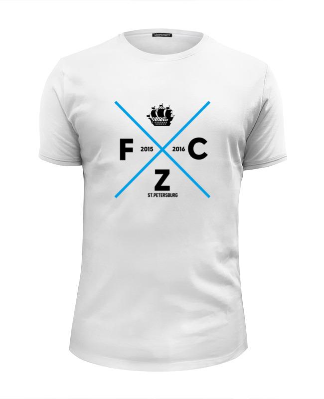 Футболка Wearcraft Premium Slim Fit Printio Fc zenit by design minsitry