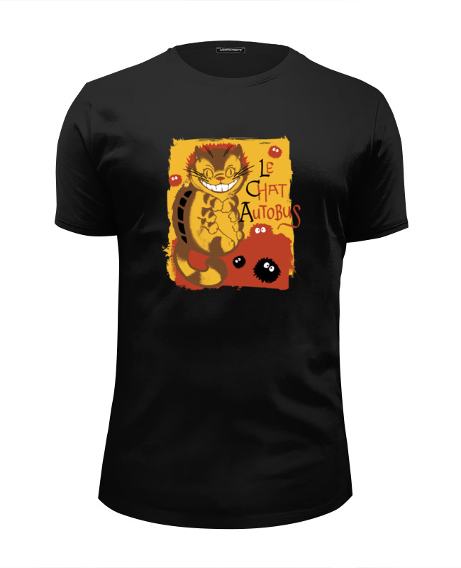 Футболка Wearcraft Premium Slim Fit Printio Кот-автобус футболка wearcraft premium slim fit printio кот суши