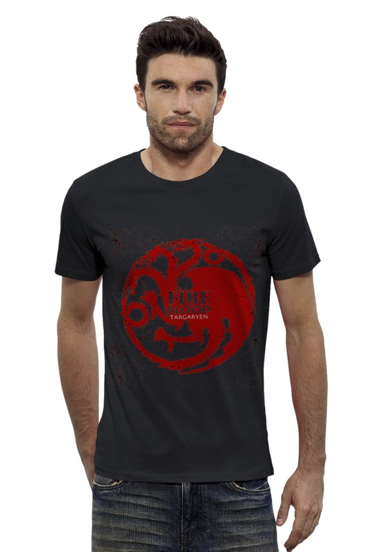 Футболка Wearcraft Premium Slim Fit Printio Fire and blood футболка analog ag anatolog slim blood