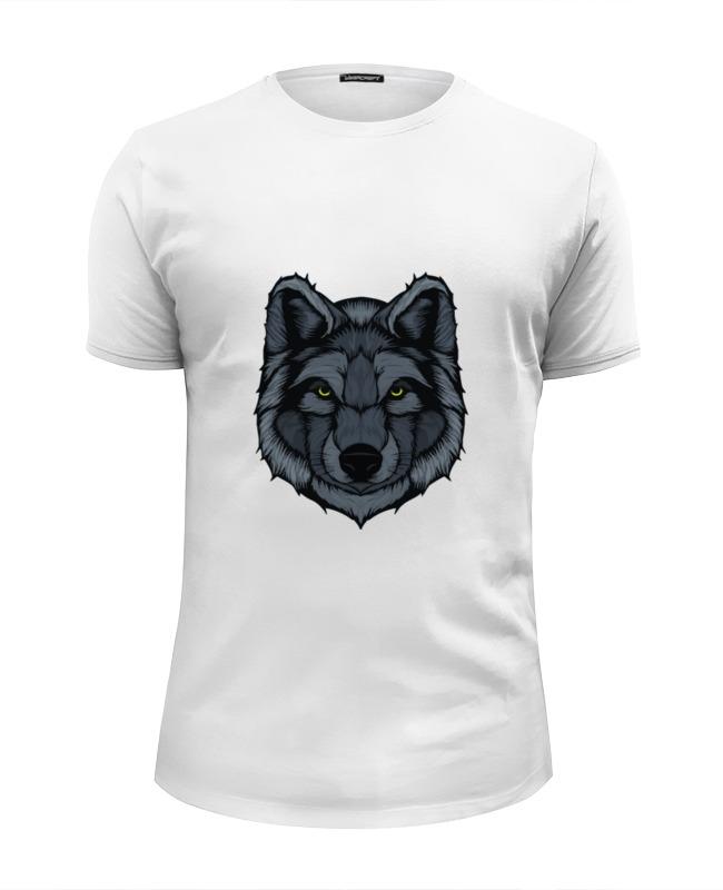 Футболка Wearcraft Premium Slim Fit Printio Волк (wolf) цена