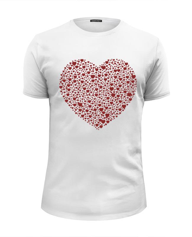 Футболка Wearcraft Premium Slim Fit Printio Сердца в сердце серая