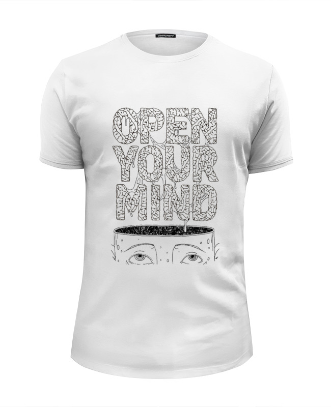 Футболка Wearcraft Premium Slim Fit Printio Open your mind книга open mind beginner student