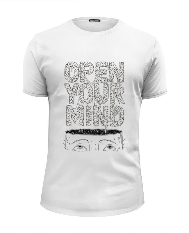 Футболка Wearcraft Premium Slim Fit Printio Open your mind книга open mind beginner student