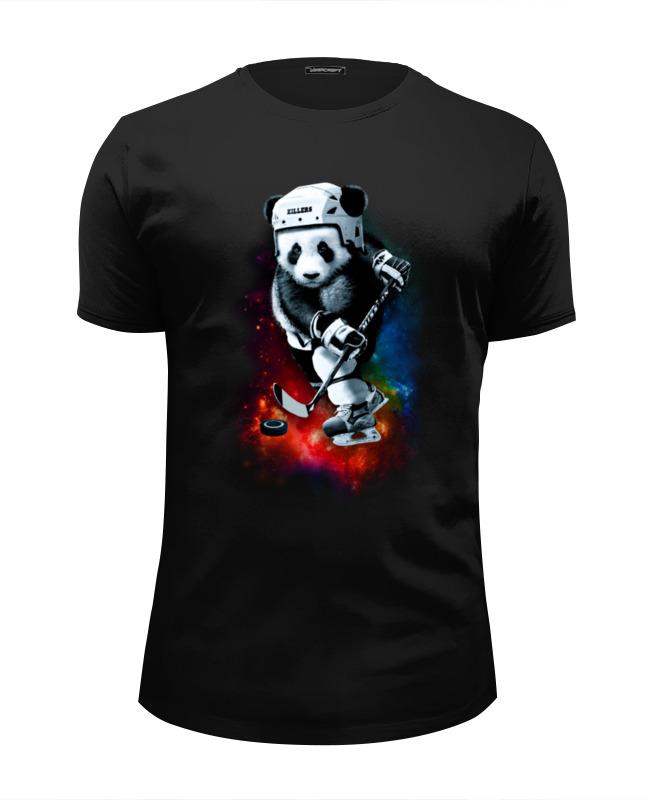 Футболка Wearcraft Premium Slim Fit Printio Панда хоккеист футболка классическая printio панда хоккеист
