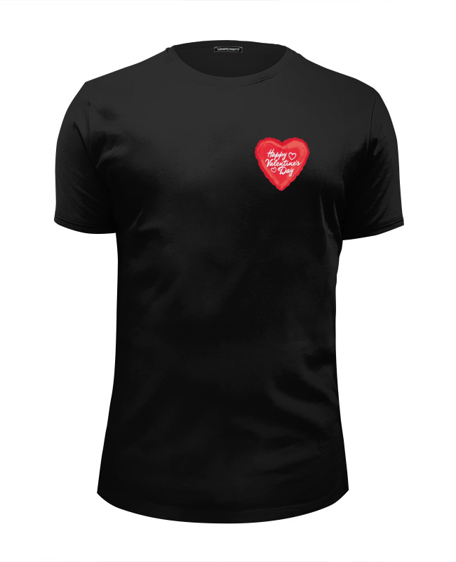 Футболка Wearcraft Premium Slim Fit Printio Happy valentine's day