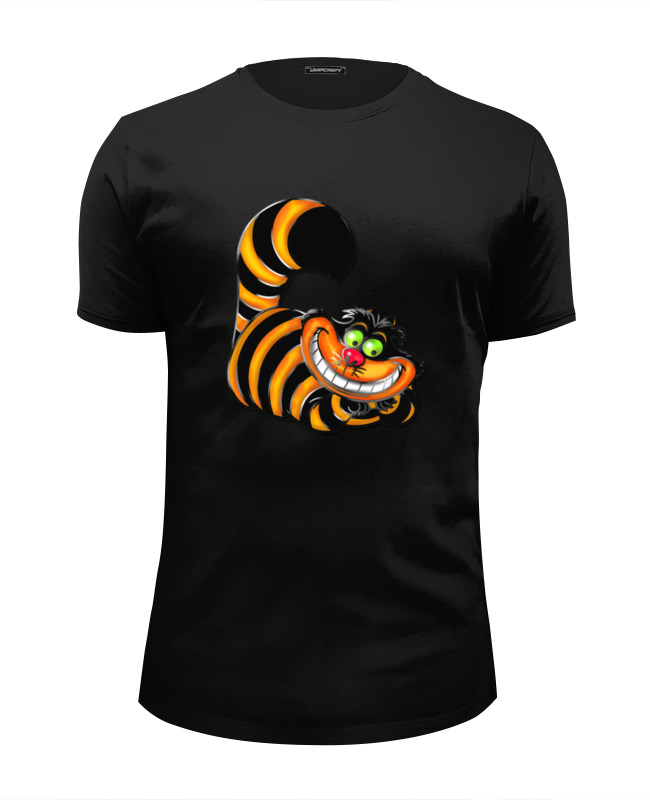 Футболка Wearcraft Premium Slim Fit Printio Чеширский кот футболка wearcraft premium printio какого цвета кот чеширский кот