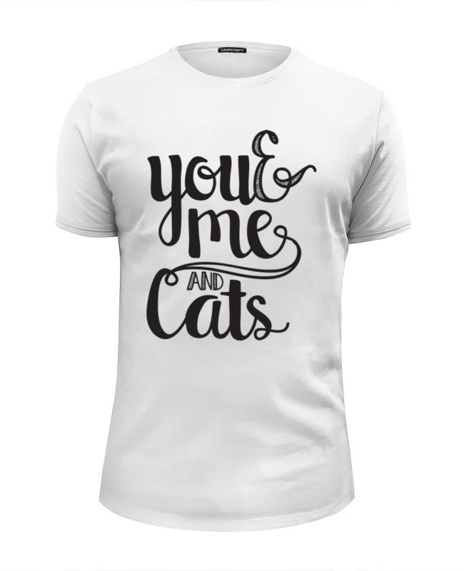 футболка wearcraft premium slim fit printio коты и кошки cats Футболка Wearcraft Premium Slim Fit Printio Ты, я и коты