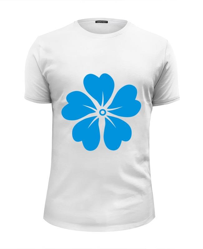 Футболка Wearcraft Premium Slim Fit Printio Голубой цветок asled голубой цветок пламени xl no
