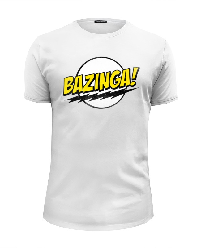 Футболка Wearcraft Premium Slim Fit Printio Bazinga! футболка wearcraft premium slim fit printio sheldon bazinga