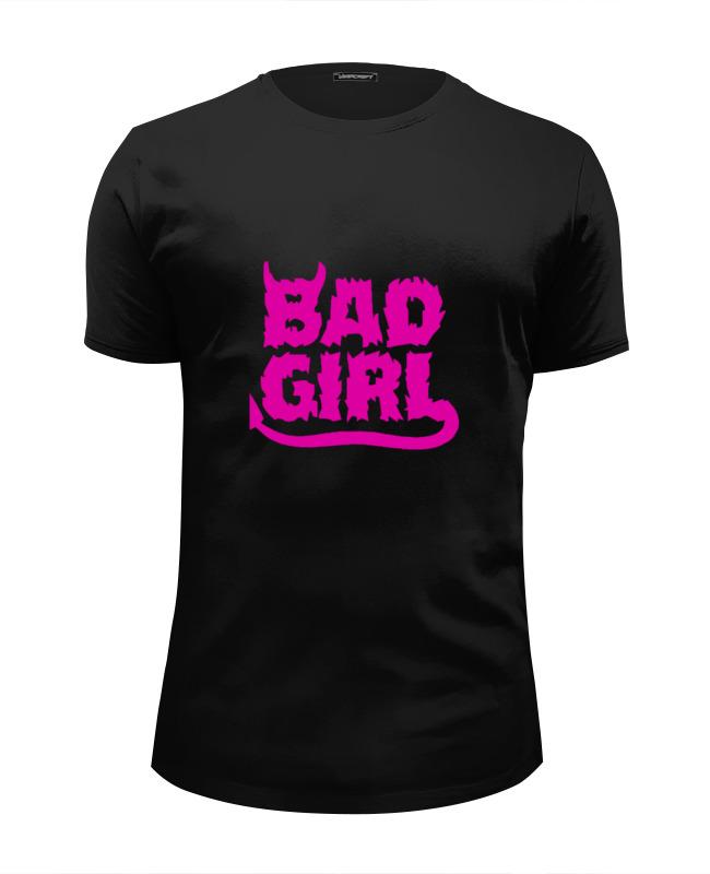 Футболка Wearcraft Premium Slim Fit Printio Bad girl (плохая девченка) bad influence