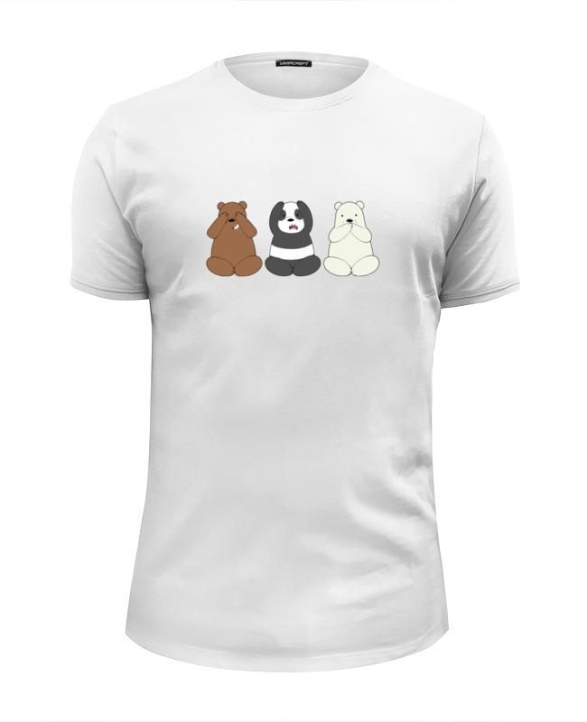 Футболка Wearcraft Premium Slim Fit Printio Медведи и панда лонгслив printio медведи и панда