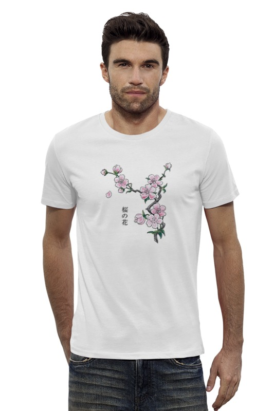 Футболка Wearcraft Premium Slim Fit Printio Японская сакура отдушка косметическая цветы сакуры 10гр
