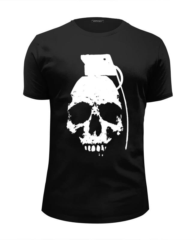 Футболка Wearcraft Premium Slim Fit Printio Череп граната футболка wearcraft premium slim fit printio граната