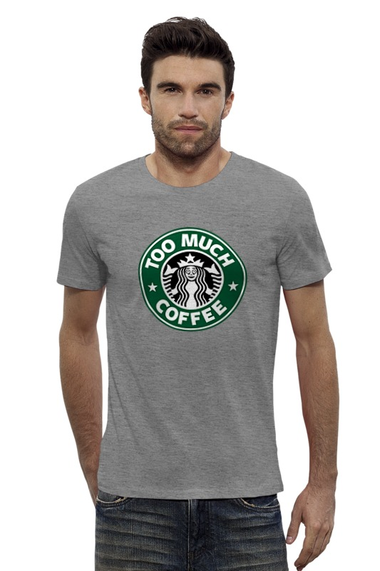 Футболка Wearcraft Premium Slim Fit Printio Too much coffee майка классическая printio too much coffee