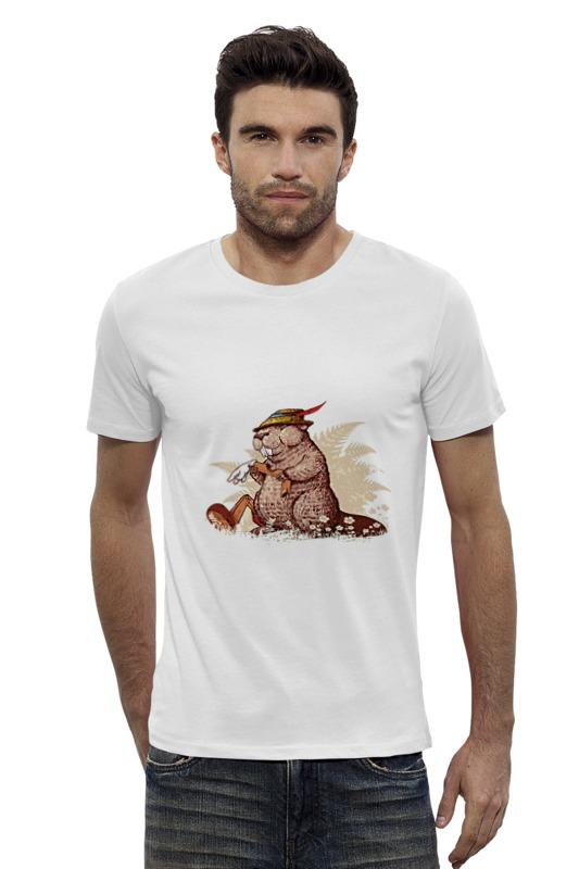 Футболка Wearcraft Premium Slim Fit Printio Кролик в охотничьей шляпе кролик белый великан в спб купить