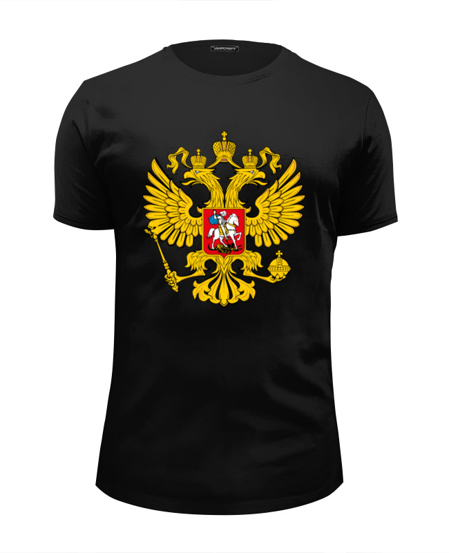 Футболка Wearcraft Premium Slim Fit Printio Российский герб футболка wearcraft premium printio российский флот