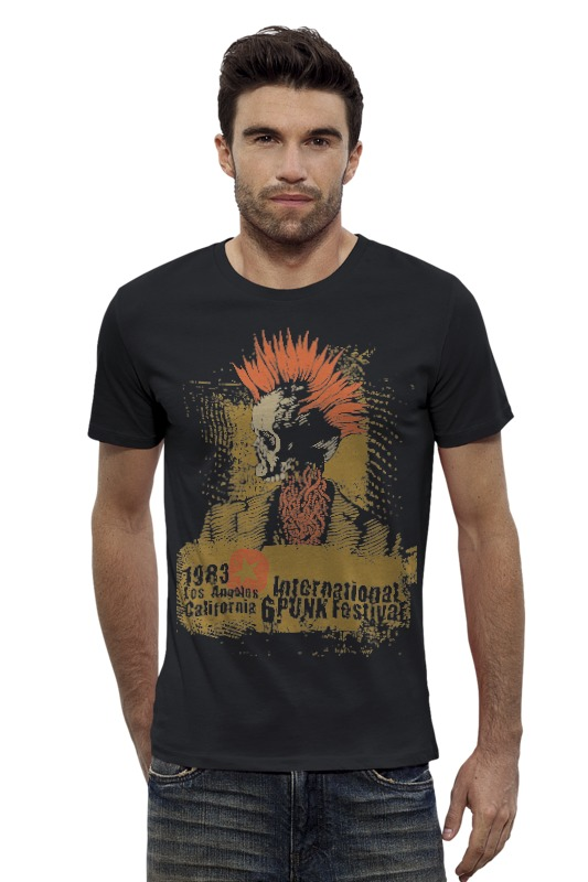Футболка Wearcraft Premium Slim Fit Printio Punk 1983 футболка wearcraft premium printio punk rock