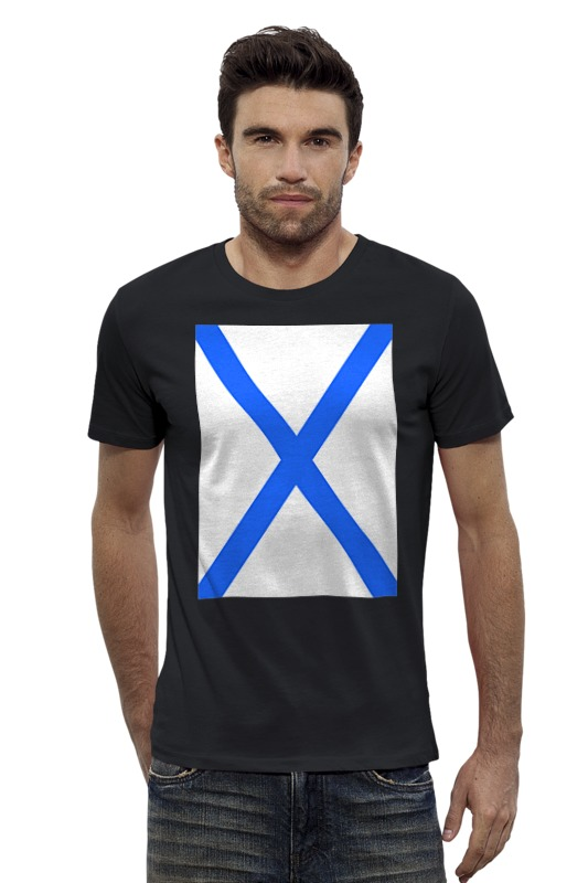 Футболка Wearcraft Premium Slim Fit Printio Андреевский флаг