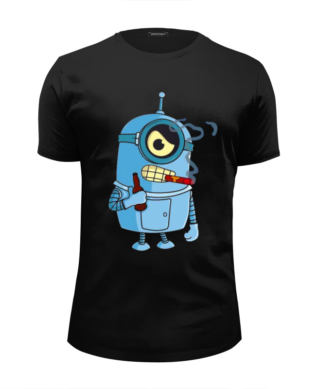 Футболка Wearcraft Premium Slim Fit Printio Bad robot minion футболка wearcraft premium slim fit printio minion dracula