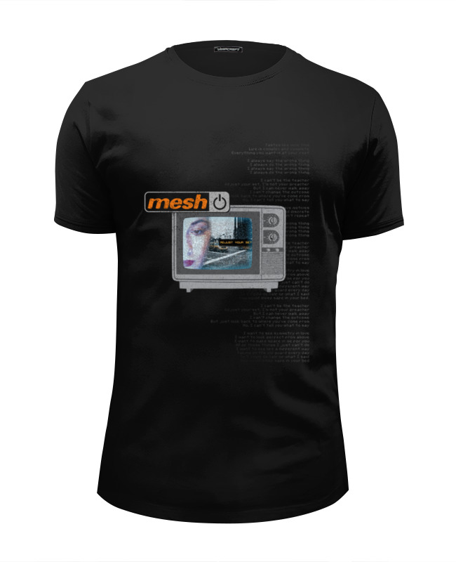 Футболка Wearcraft Premium Slim Fit Printio Mesh / adjust your set black mesh applique lingerie set