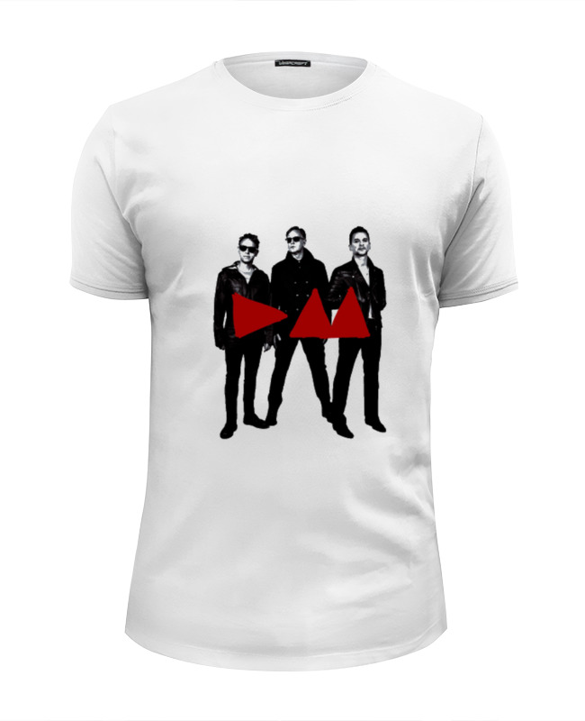 Футболка Wearcraft Premium Slim Fit Printio Depeche mode - band stand