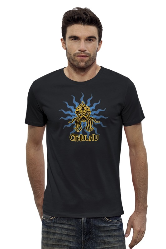 Футболка Wearcraft Premium Slim Fit Printio Ктулху футболка wearcraft premium slim fit printio шахматиста