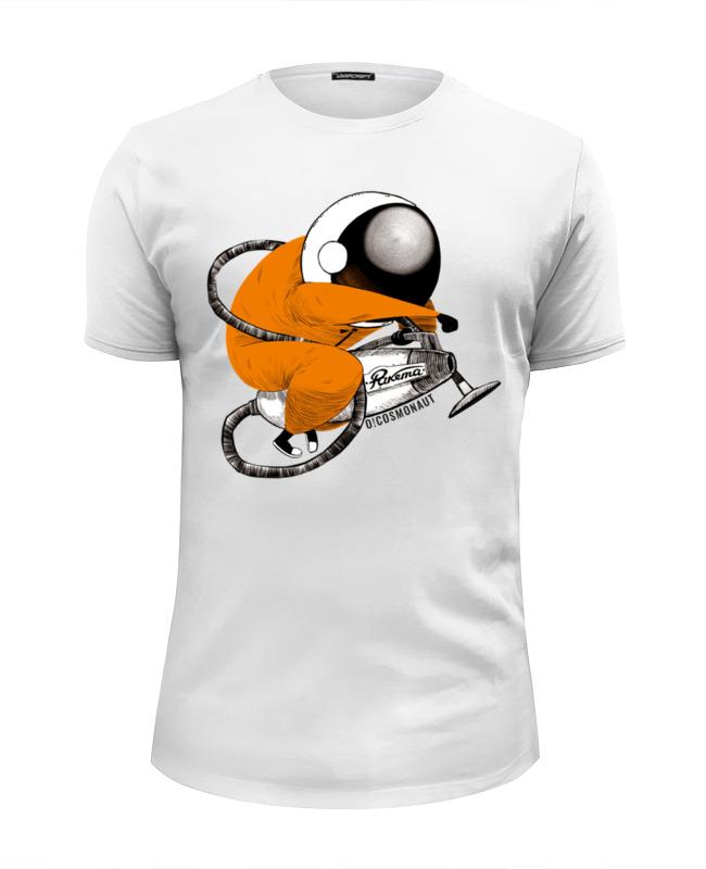 Футболка Wearcraft Premium Slim Fit Printio Космонавт на пылесосе футболка wearcraft premium slim fit printio космонавт и звёздочка хотят отправиться в космос
