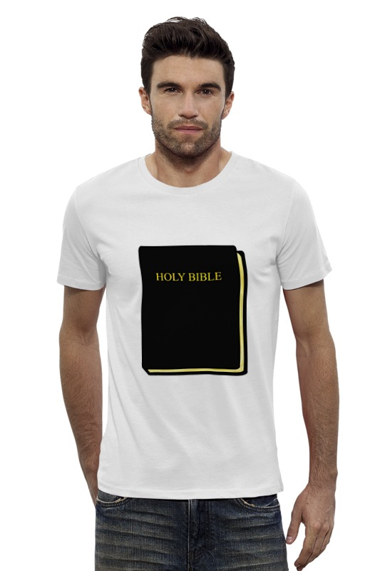 Футболка Wearcraft Premium Slim Fit Printio Holy bible the holy bible king james version