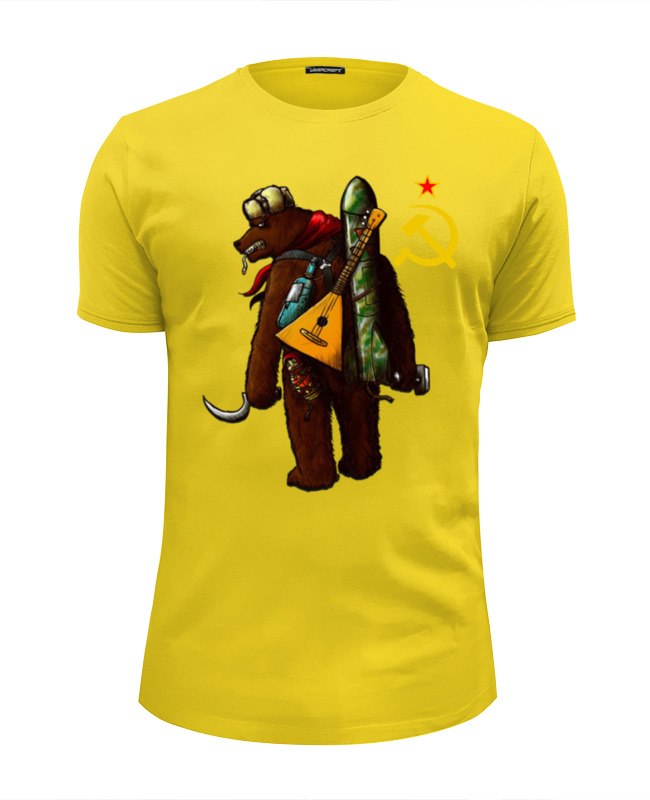 Футболка Wearcraft Premium Slim Fit Printio Angry russian bear футболка wearcraft premium slim fit printio bear arms