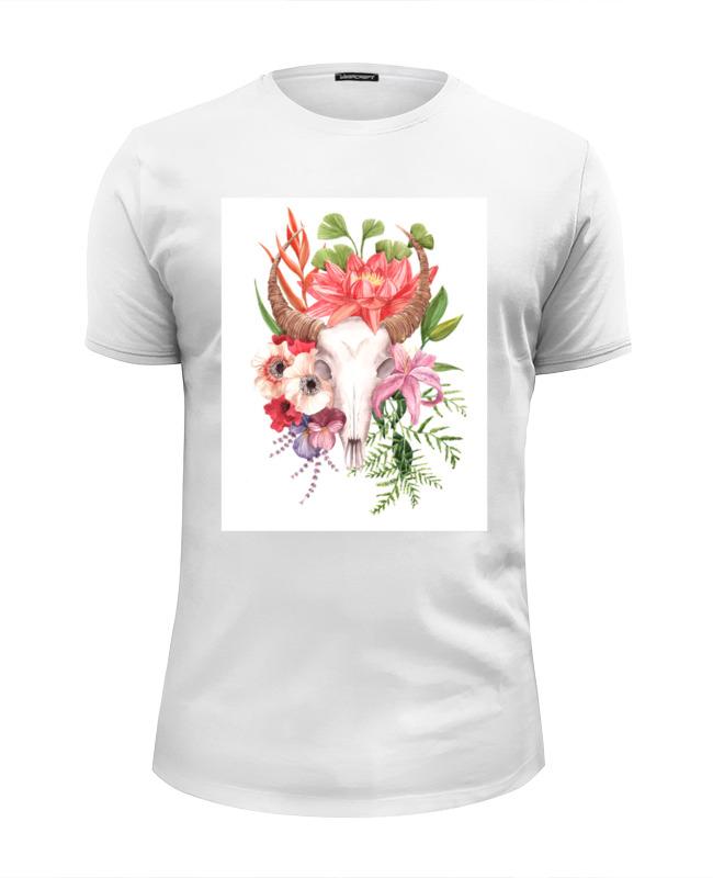 Футболка Wearcraft Premium Slim Fit Printio Flower skull skull flower tank top with openwork lace back