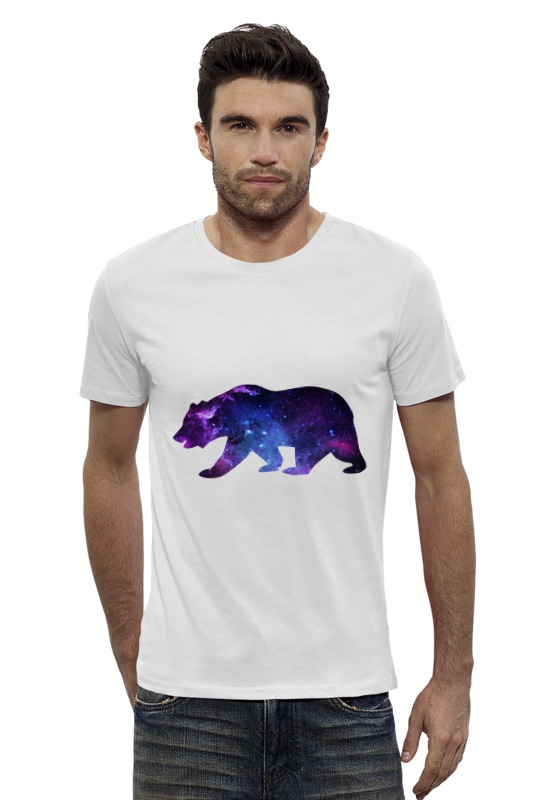 Футболка Wearcraft Premium Slim Fit Printio Space animals футболка wearcraft premium slim fit printio space jam x jordan