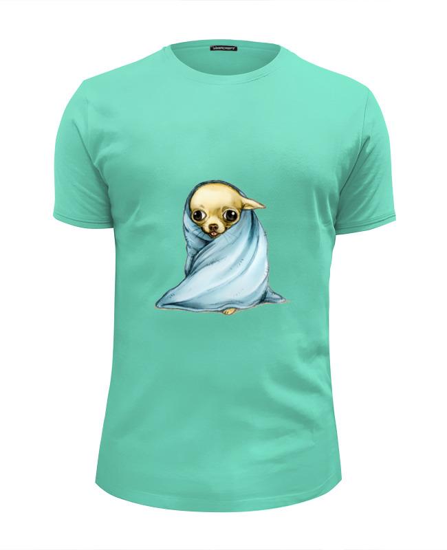 Футболка Wearcraft Premium Slim Fit Printio Собачка после купания футболка для купания