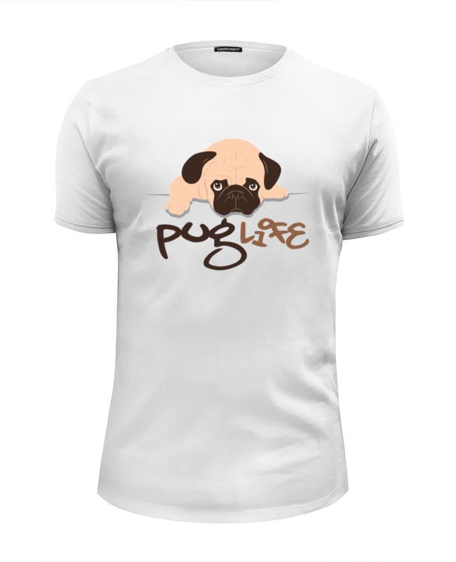 Футболка Wearcraft Premium Slim Fit Printio Мопс (pug) цена и фото